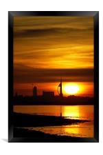 Spinnaker Tower Sunset, Framed Print