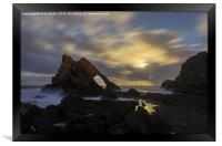 Bow Fiddle Rock by moonlight, Framed Print