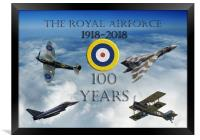 A 100 years (with Vulcan) , Framed Print