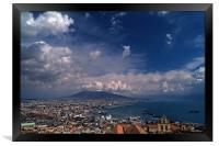 Napoli bay, Framed Print