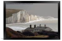 The Coastguard Cottages at Cuckmere Haven, E Suss, Framed Print