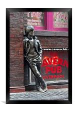 Statue of John Lennon, Framed Print