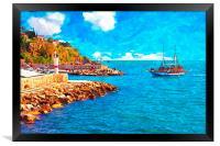 Kaleici harbour in Antalya Turkey, Framed Print