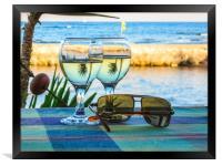 Summer still life , Framed Print