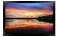 Sunset Symmetry, Framed Print