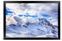 Caucasian ridge, Framed Print