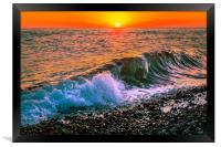 Sunset splash, Framed Print