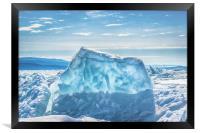 Pressure ridge of lake Baikal, Framed Print