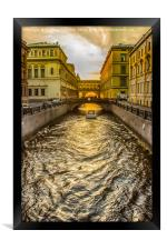 Swan Canal in St. Petersburg, Framed Print