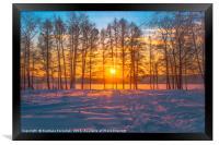 Winter sunset, Framed Print