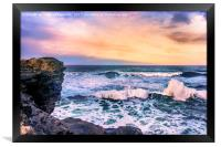 Sunset of the Bay of Biscay , Framed Print