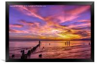 Dramatic Sunset at Picnic Point Park, Framed Print