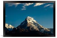 Shining Mount Annapurna South , Framed Print
