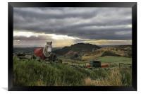 Horse, Hen Cloud and Setting Sun, Framed Print