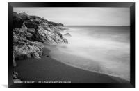 Beach of Los Molinos, Framed Print