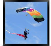Parachutist, Framed Print