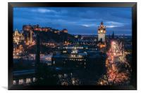 Edinburgh Skyline at Dusk, Framed Print