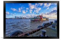 Ferry across the Mersey, Framed Print