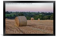 Late Summer sunset, Framed Print