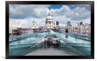 Millennium Bridge, Framed Print