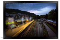 Train Station, Framed Print