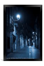 Blue Light, Framed Print
