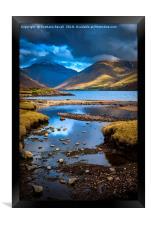 Evening Lake, Framed Print