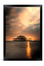 Brighton Pier Sunset, Framed Print