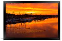 Littlehampton Sunset over the Arun River, Framed Print
