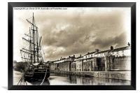 Earl of Pembroke at Charlestown Harbour, Framed Print