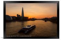 Sunset Cruise on the River Thames, Framed Print
