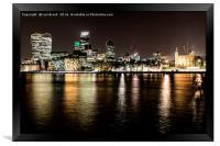 London at Night, Framed Print