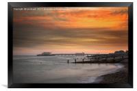 Worthing Pier at Sunset, Framed Print