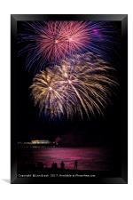 Fireworks from Worthing Pier, Framed Print