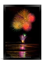 Worthing Beach fireworks 2017, Framed Print