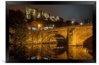 Durham Castle and Framwellgate Bridge by Night, Framed Print