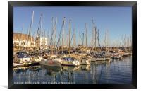 Port in the lovely fishing village..........., Framed Print
