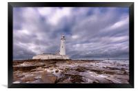 Standing Proudly St. Mary's Lighthouse, Framed Print