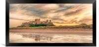 Pretty as a Picture - Bamburgh Castle, Framed Print