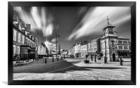 Charming Tynemouth Mono, Framed Print