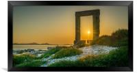 Amazing sunset at the Temple of Appolo, Framed Print