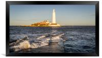 January day at the Lighthouse, Framed Print