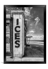 Anyone for Ice Cream ? B&W, Framed Print