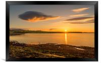 Photos of Northumberland - Budle Bay Sunset, Framed Print