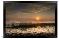 Newgale waves., Framed Print