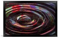 water drop ripples, Framed Print