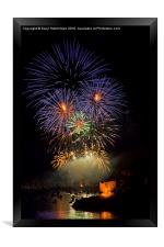 Fowey Regatta Fireworks, Framed Print