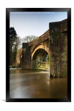 Under the bridge, Framed Print