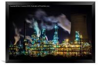 Saltend Chemical works, Framed Print