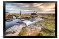 Windy Post Dartmoor, Framed Print
